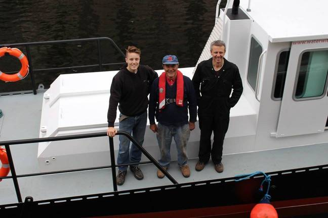 Tom, his dad and granddad all still help out with the business. Credit: Water Witch