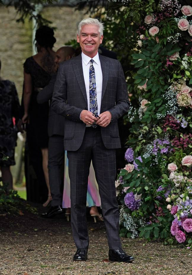 Philip Schofield was among the guests. Credit: PA