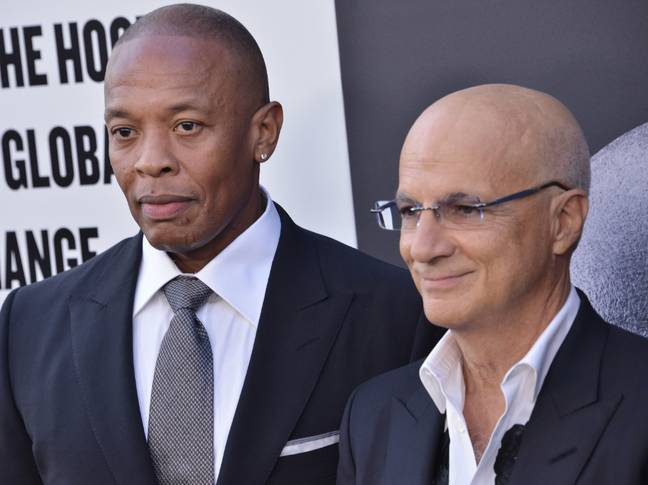 Dre with Interscope Records co-founder Jimmy Iovine. Credit: PA