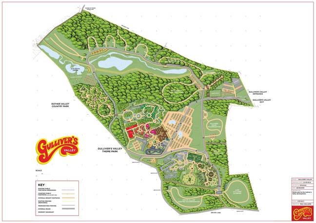 A map for the theme park. Credit: Gulliver's Valley Resort