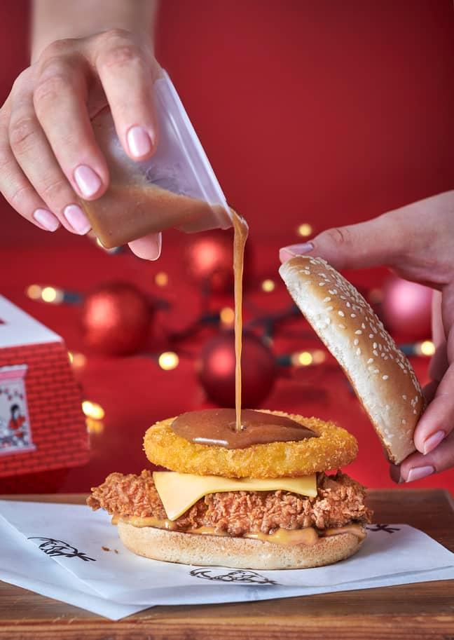 KFC'S Gravy Burger looks epic. Credit: KFC