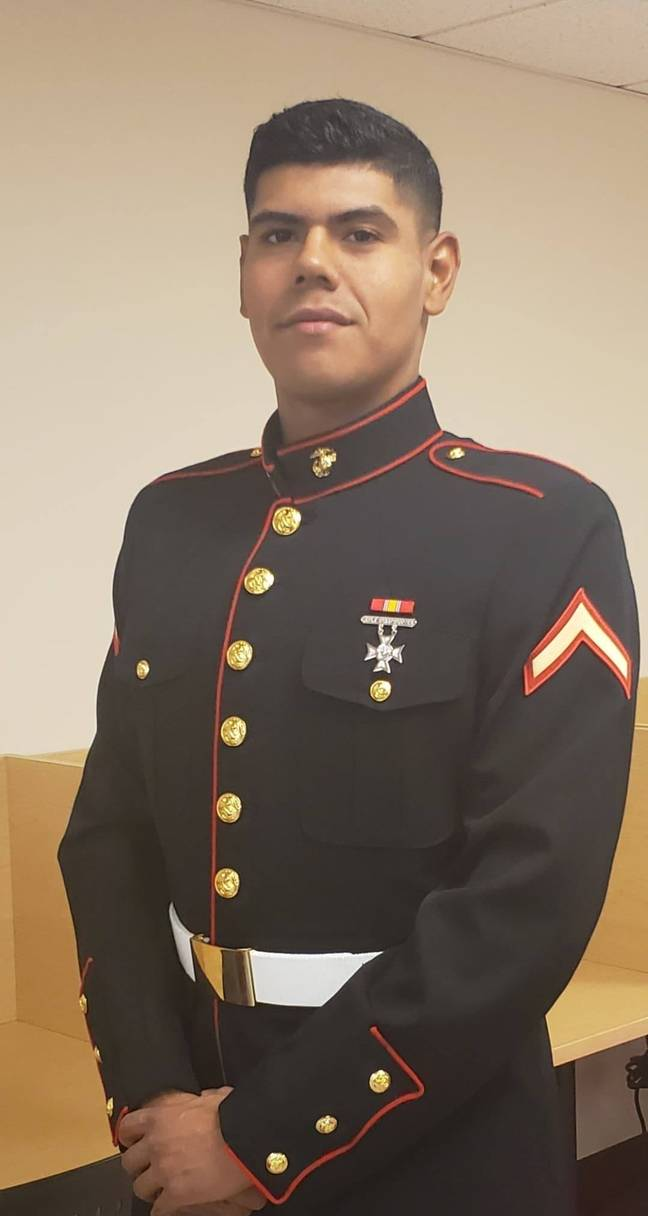 Adan qualified as a marine in July 2019. Credit: Adan Prescott