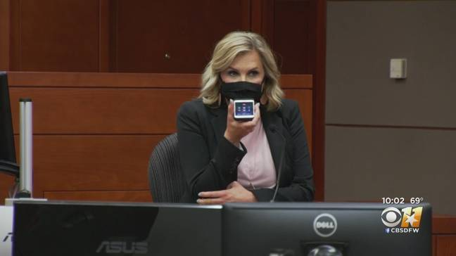 Shelly Luther in court. Credit: CBS
