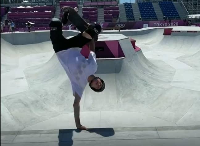 Tony looks at home in the skatepark. Credit: Instagram/Tony Hawk