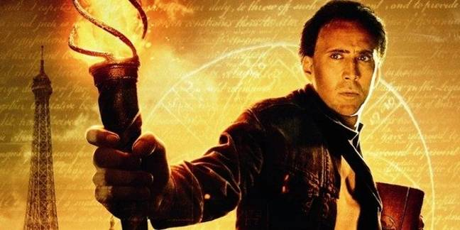 Nicolas Cage takes on the lead role in National Treasure. Credit: Walt Disney Pictures