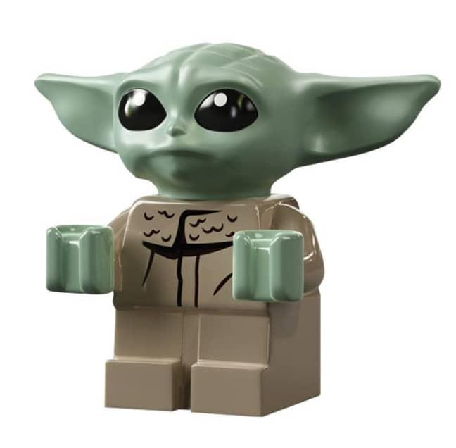 Behold, the Baby Yoda LEGO minifigure. Credit: LEGO