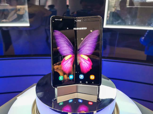 The Samsung Galaxy Fold. Credit: PA