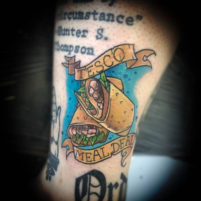 Meal deals are life. Credit: @BeckyBagginsTattoo/Instagram