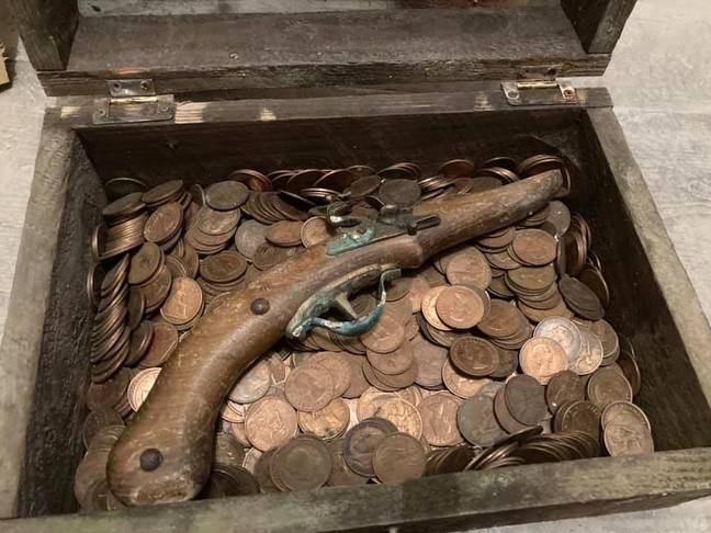 The contents of the treasure chest. Credit: Matthew Jack