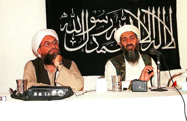al-Zawahiri with Osama Bin Laden in 1998. Credit: PA
