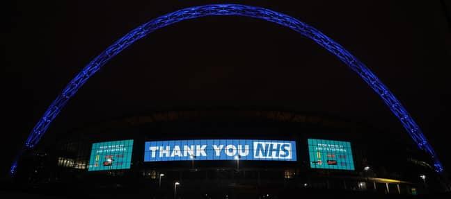Wembley Stadium. Credit: #LightItBlue