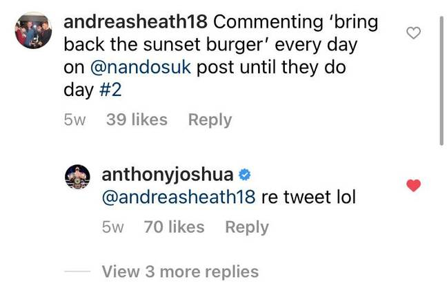 Anthony Joshua weighed in. Credit: SWNS