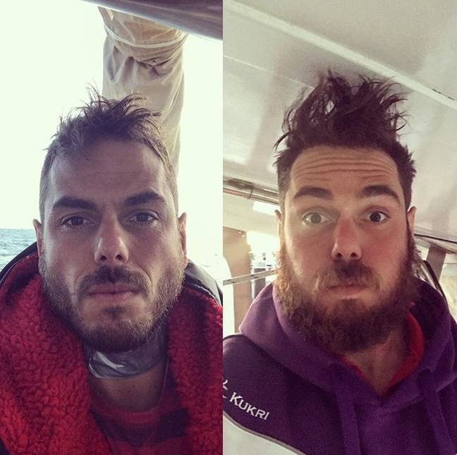 Ross, before and after 132 days at sea. Credit: Instagram/Ross Edgley