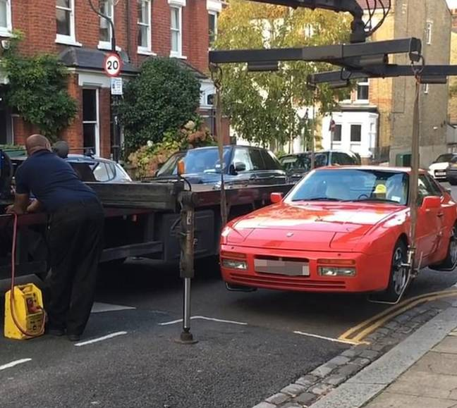 The Porsche was parked on double yellows. Credit: Triangle News