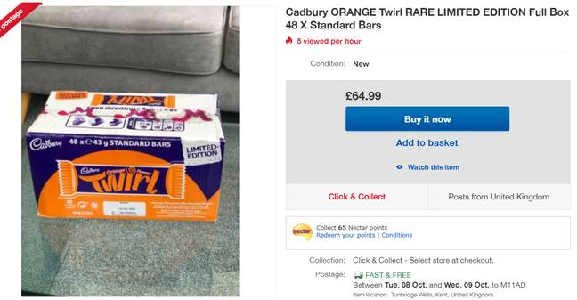The bars are on sale online with a hefty mark-up. Credit: eBay