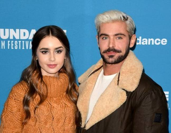 Efron stunned everyone with his platinum blonde locks. Here he is pictured with on-screen girlfriend Lily Collins. Credit: PA
