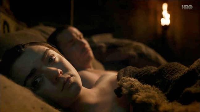 Maisie Williams and Joe Dempsie as Arya and Gendry. Credit: HBO