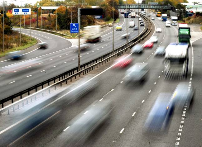 Stock image of motorway. Credit: PA