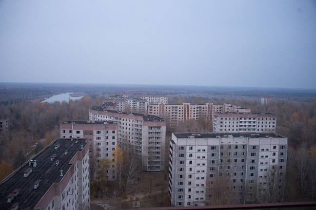 The empty city of Pripyat in the Chernobyl Exclusion Zone