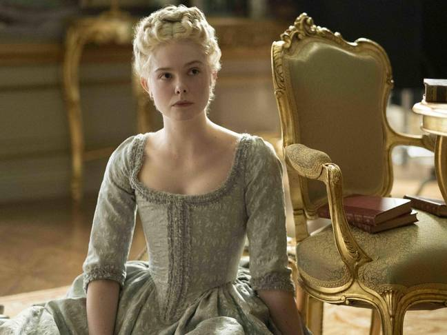 Elle Fanning as Catherine the Great. Credit: Hulu/Channel 4