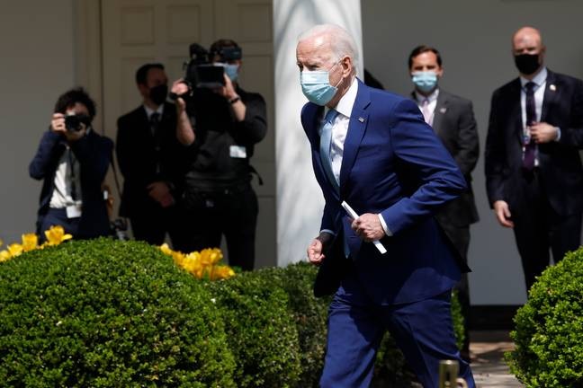 Biden setting the new 100m sprint record here. Credit: PA