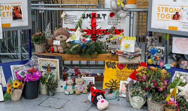 A memorial to the victims of the Manchester Arena bombing at Victoria Station in Manchester. Credit: PA