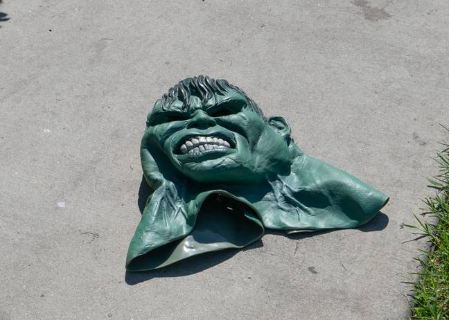 An Incredible Hulk mask was found a few yards away from the vandalised star. Credit: Shutterstock