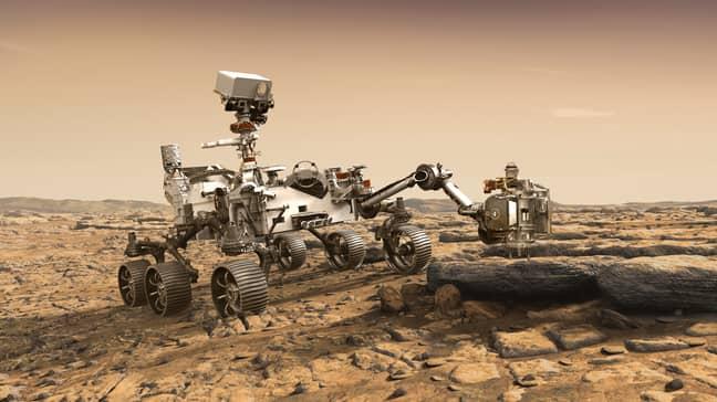 NASA illustration of the Perseverance rover. Credit: PA