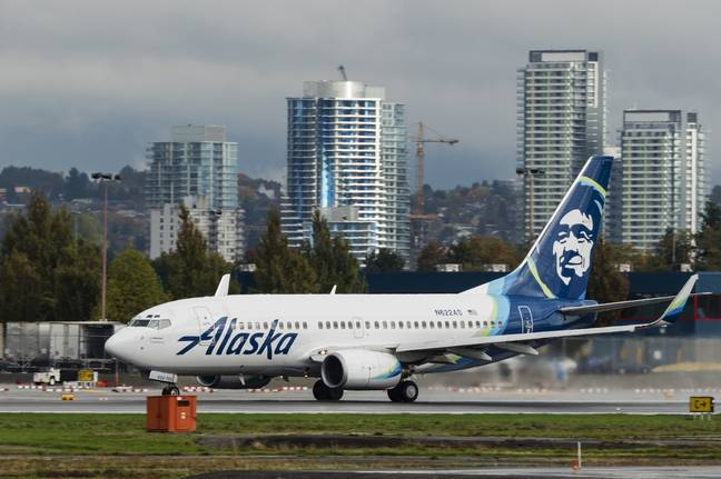 Alaska Airlines Flight. Credit: PA