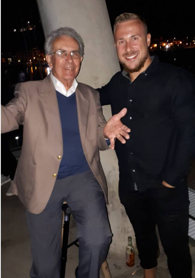 Jake decided to take his granddad on holiday so they could spend some quality time together. Credit: LADbible