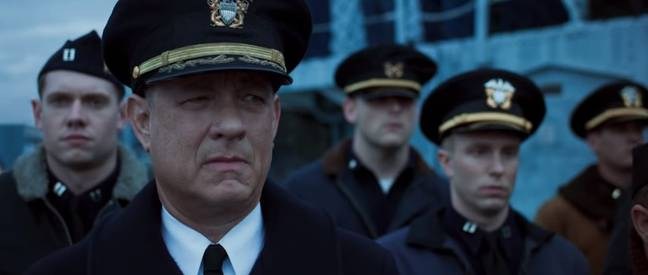 This will be Navy Capt. Ernest Krause's first command of a US destroyer. Credit: Sony Pictures Entertainment