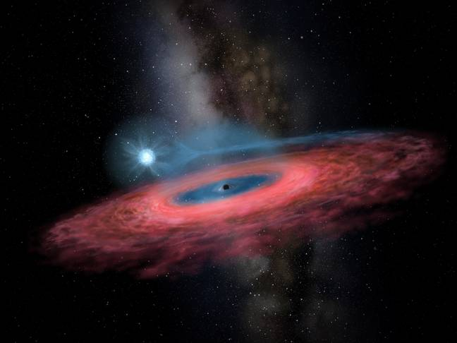 An artist's impression of another black hole. Credit: PA