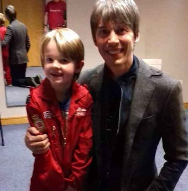 Hayden with Professor Brian Cox. Credit: LADbible