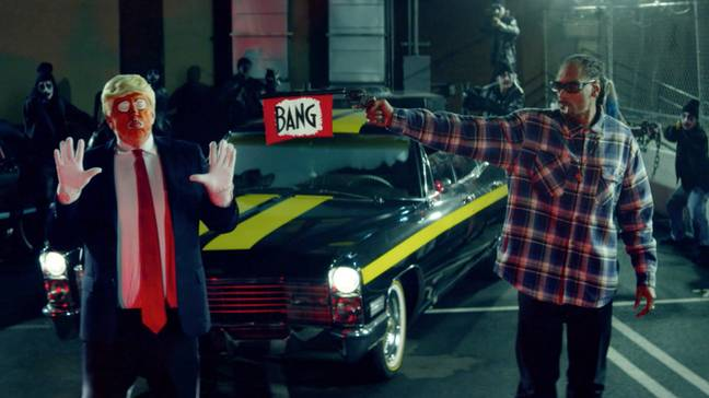 Snoop Dogg's video for 'Lavender' featured a Donald Trump lookalike getting shot. Credit: Doggystyle/Empire