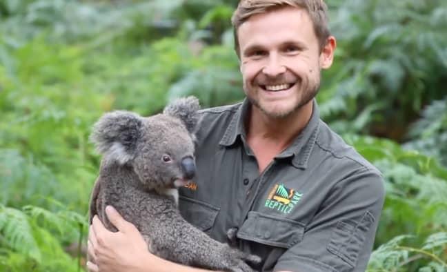 Australian Reptile Park Zookeeper Dan Rumsey. Credit: Australian Reptile Park