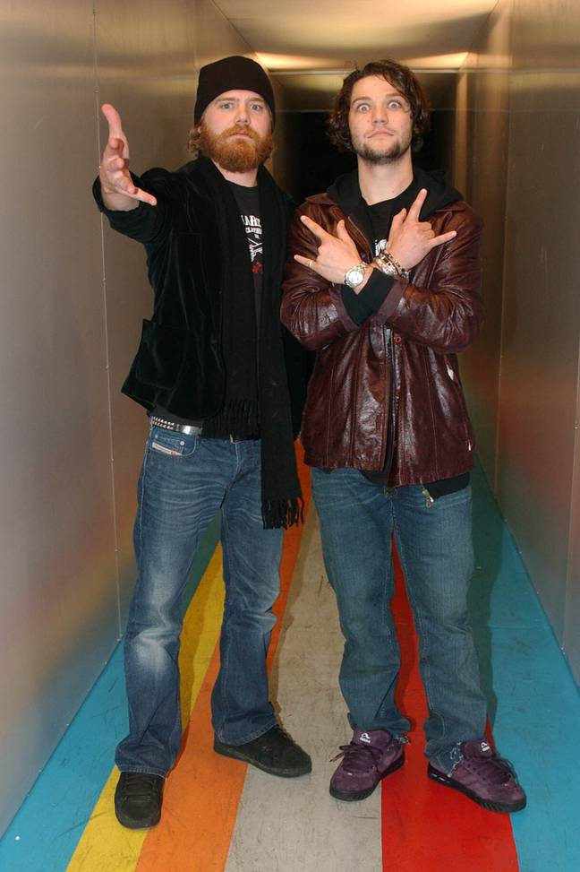 Ryan Dunn (left) with Bam Margera. Credit: PA