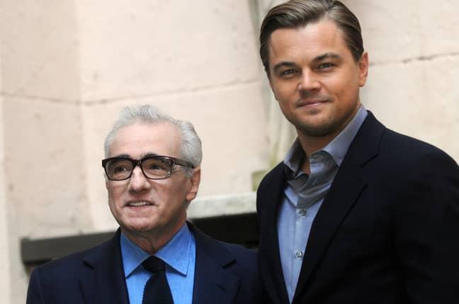 Martin Scorsese with Leonardo Dicaprio. Credit: PA