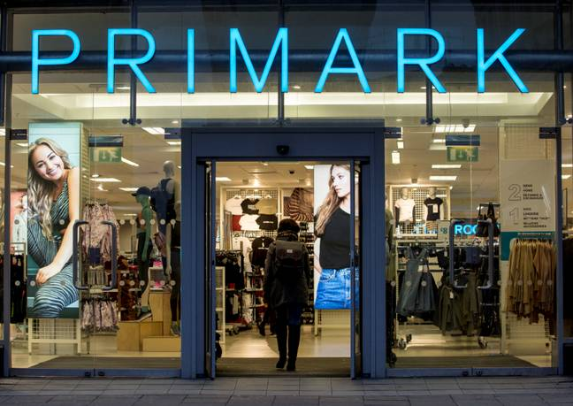 General view of a Primark store. Credit: PA