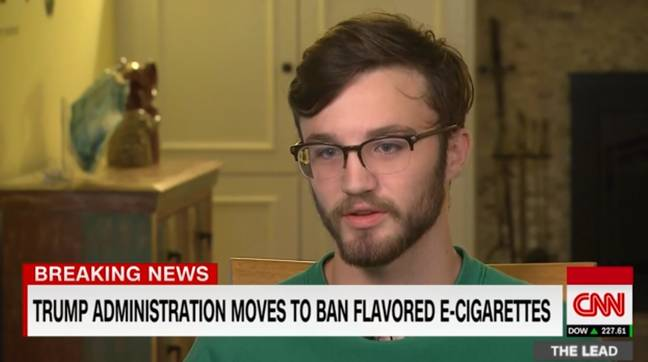 Adam Hergenreder was hospitalised with a mystery lung illness. Credit: CNN