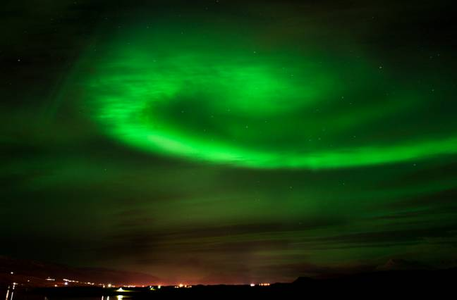 The Northern Lights In Iceland. Credit: PA