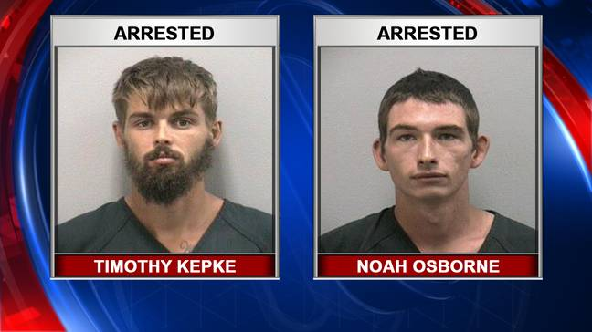 Timothy Kepke and Noah Osborne. Credit: Fox13/Martin County Sheriff's Department