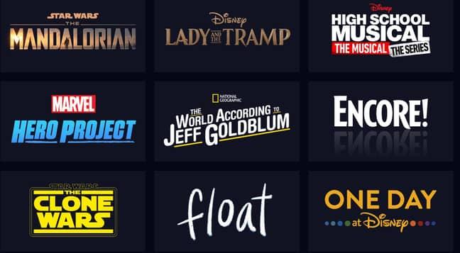 Exclusive Disney+ Originals. Credit: Disney+