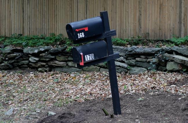 Mailbox outside George Soros' house. Credit: PA