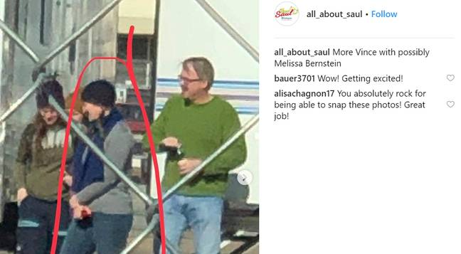 The Instagram account has shared pictures of what appears to be the creator of Breaking Bad, Vince Gilligan, on set in Albuquerque. Credit: Instagram/all_about_saul
