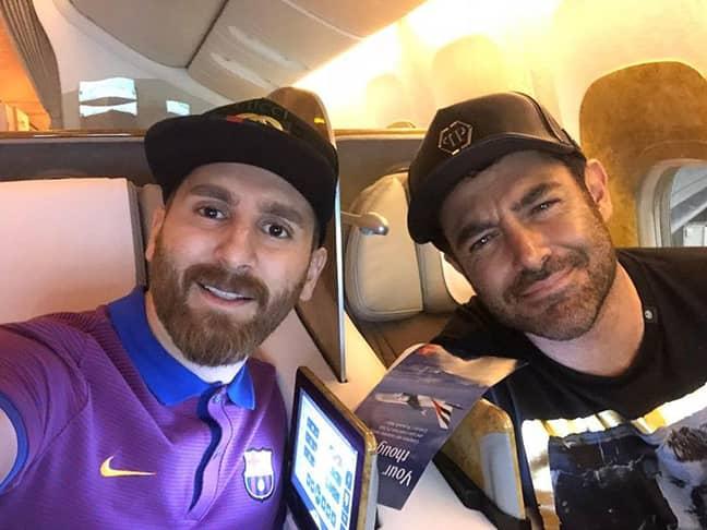 Parastesh, left. Credit: Instagram/Reza Parastesh