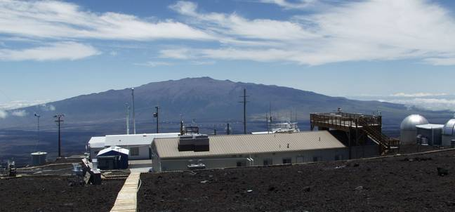 The increased levels of CO2 were detected by sensors at the Mauna Loa Obervatory. Credit: Mauna Loa Obervatory