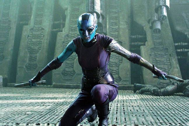 Gillan says her get-up as Nebula affects her portrayal of the character. Credit: Marvel