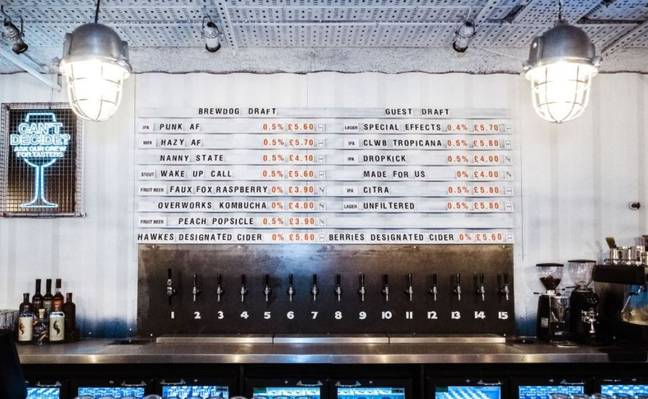 Brewdog recently opened what it claims to be the world's first alcohol-free bar. Credit: Brewdog