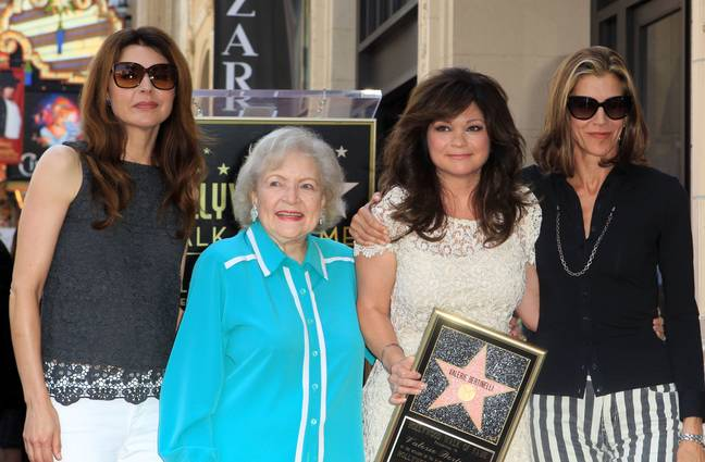 Betty White with Jane Leeves, Valerie Bertinelli and Wendie Malick. Credit: PA