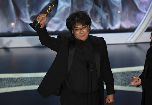 Bong Joon-ho collected his award for Best Director. Credit: PA